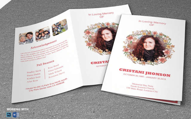 Best Funeral Brochure Templates  Designs  Smartcolorlib