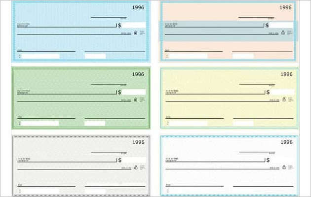 Blank Check Vector Pack Free Download