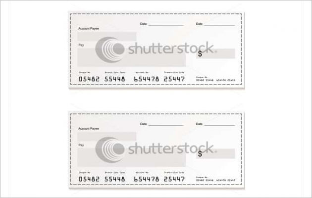 Blank Cheque Printing Template