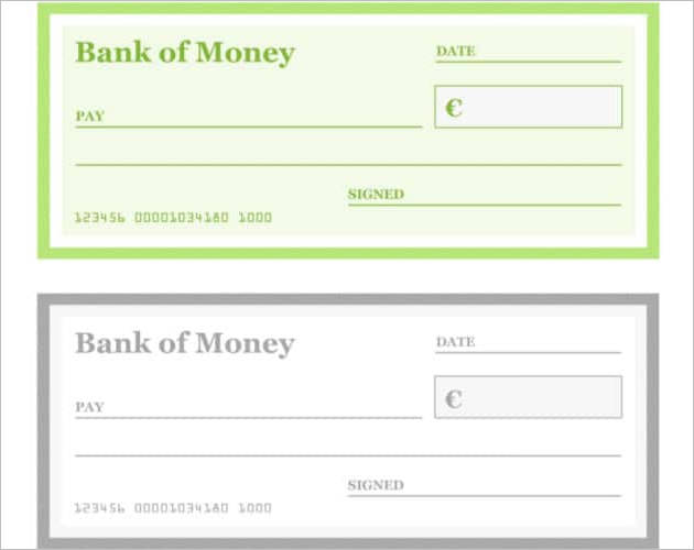 popular blank cheque templates