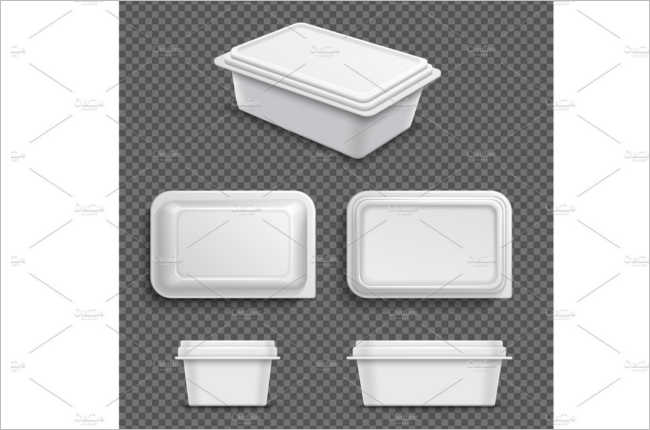 Blank Food Box Mockup Design