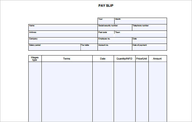 Pay Stub Pdf Pasoevolistco - Pay stub template pdf