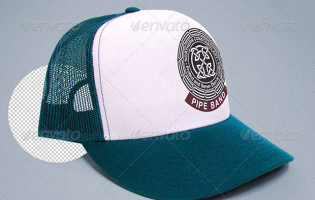 Changeable Color and Logo Trucker Cap Mock-up