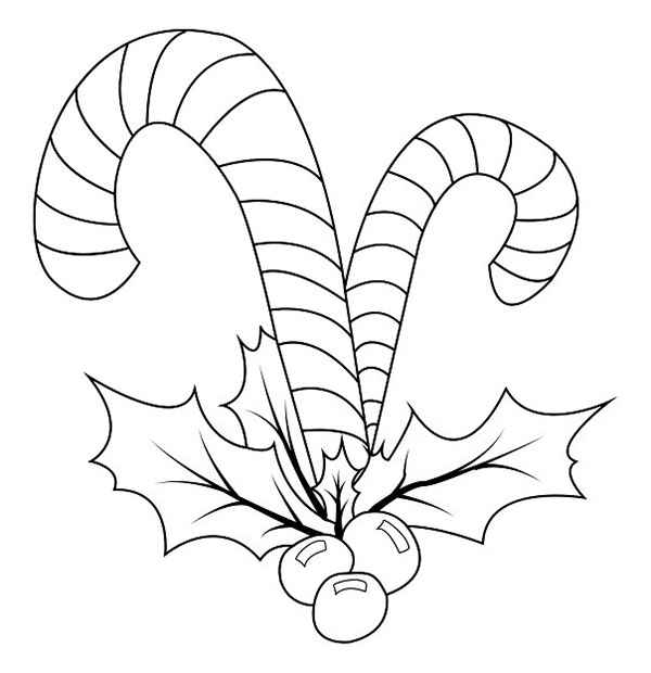 Christmas Candy Coloring Page