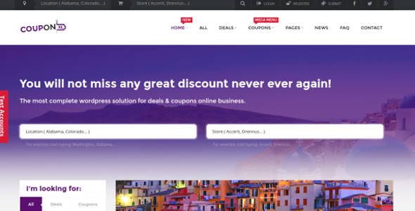 Coupons, Deals & Discounts WP Theme