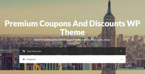 Coupons & Discounts Premium WP Theme