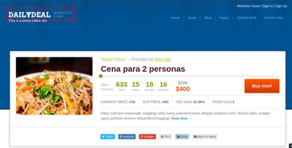 Daily Deal Coupon WordPress Template