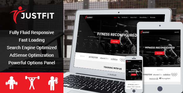 Fitness, Exercise And Health WordPress Theme