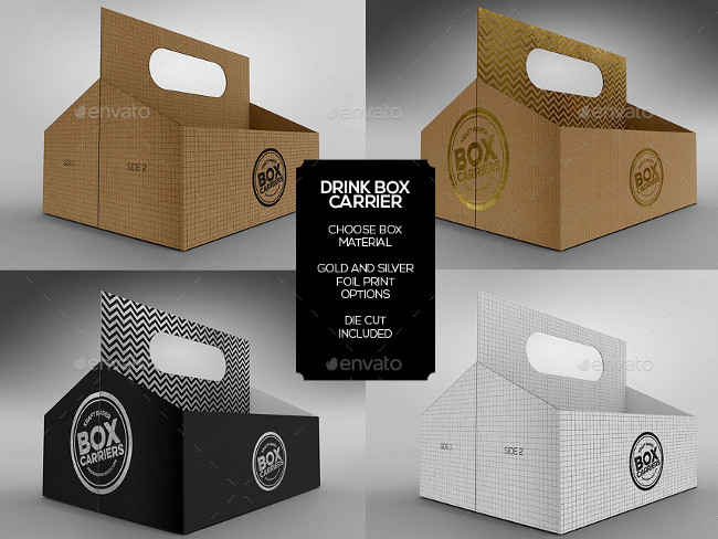 Food & Pastry Boxes Packaging Mock Ups