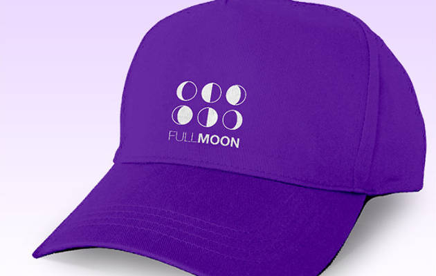Full Moon Colorful Baseball Cap Mockup