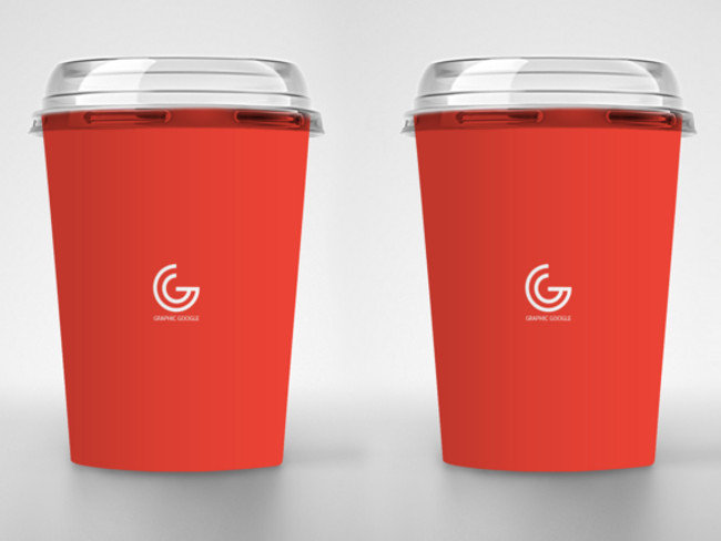Ice Cream Disposable Cup Packaging Mockup Free