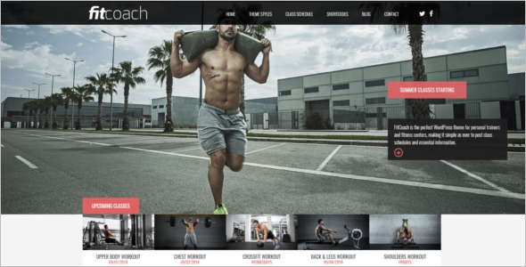 Perfect Free Fitness WordPress Theme