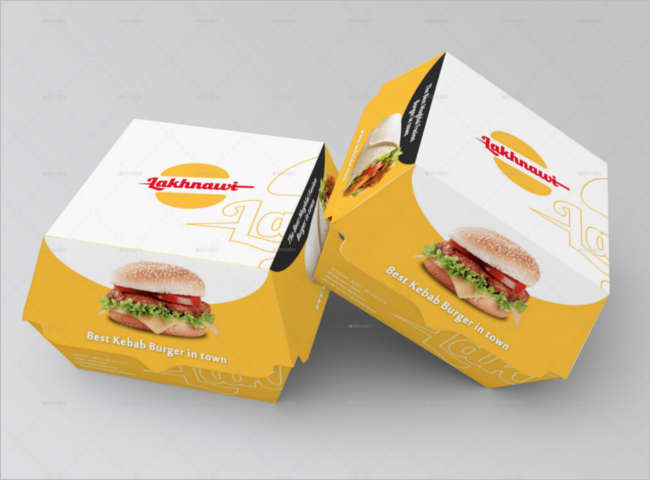 Photoshop Food Box Mockup Design