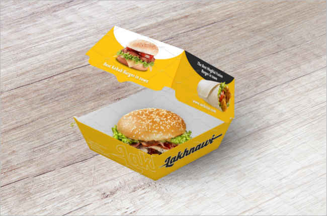 Premium Food Box Mockup Template