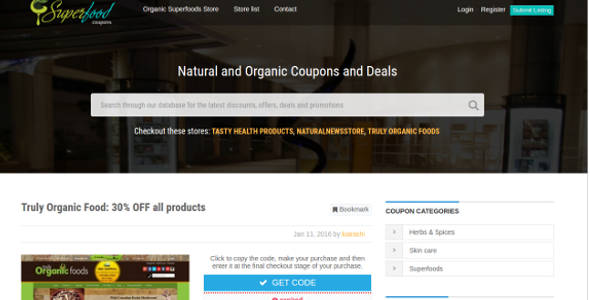 Premium Groceries Coupon Child Theme