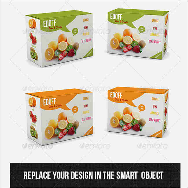 PSD Product Box Mockup Premium Downloadable