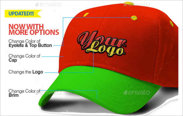 Red Colour Cap Mock-Up