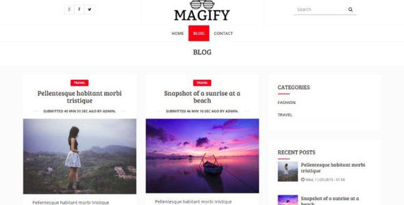 Responsive Blog Template