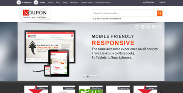 Responsive WordPress Coupon Theme