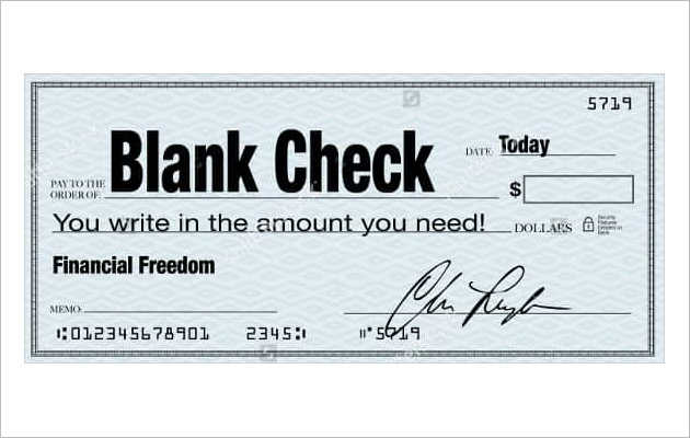 Simple Blank Check for All Purpose
