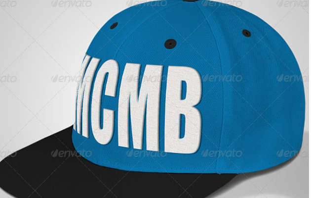 Snapback Cap Mock-ups with Embroidery Designs
