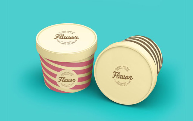 Top Ice Cream Cup PSD Mockups
