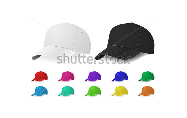 Vector Baseball Cap Mock Up