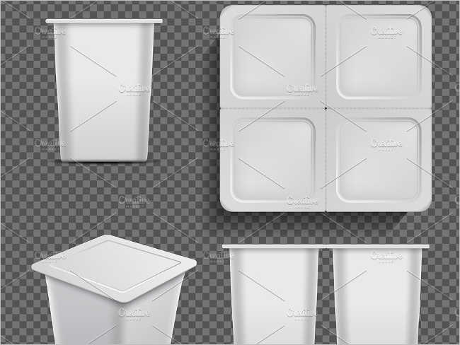 White blank container Mockup Template
