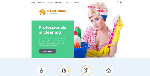 Cleaning Business & Services Joomla Template