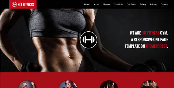 Fitness & Gym One Page Joomla Template