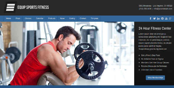 Joomla Sports and Fitness Theme