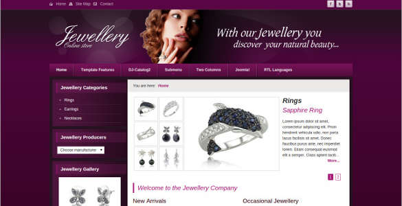 Natural Beauty Jewelry Joomla Template