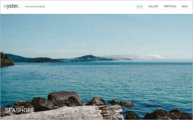 Oyster – Fullscreen Photo and Video Website Template