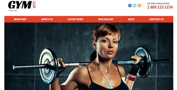Responsive Gym Fitness Template