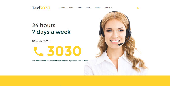 Taxi Business & Services Joomla Template