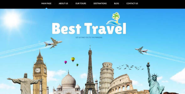Travel Agency Social Options Joomla Template