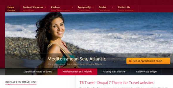 Travel Drupal Themes and templlates