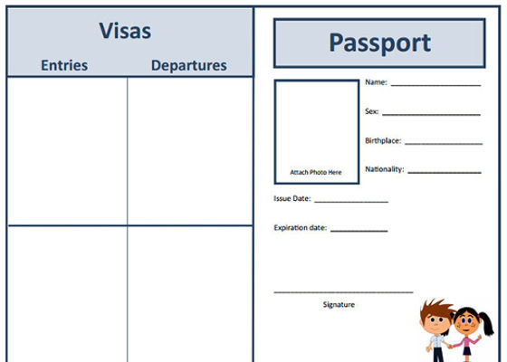 picture about Free Printable Passport Template for Students named 29+ Pport Templates for Learners - Phrase, Excel
