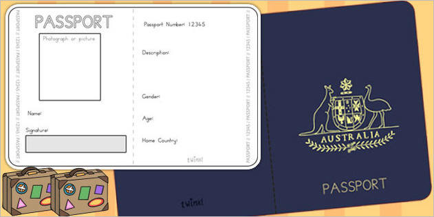Australian Passport Template