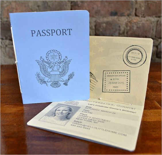 Best Idea Passport Template