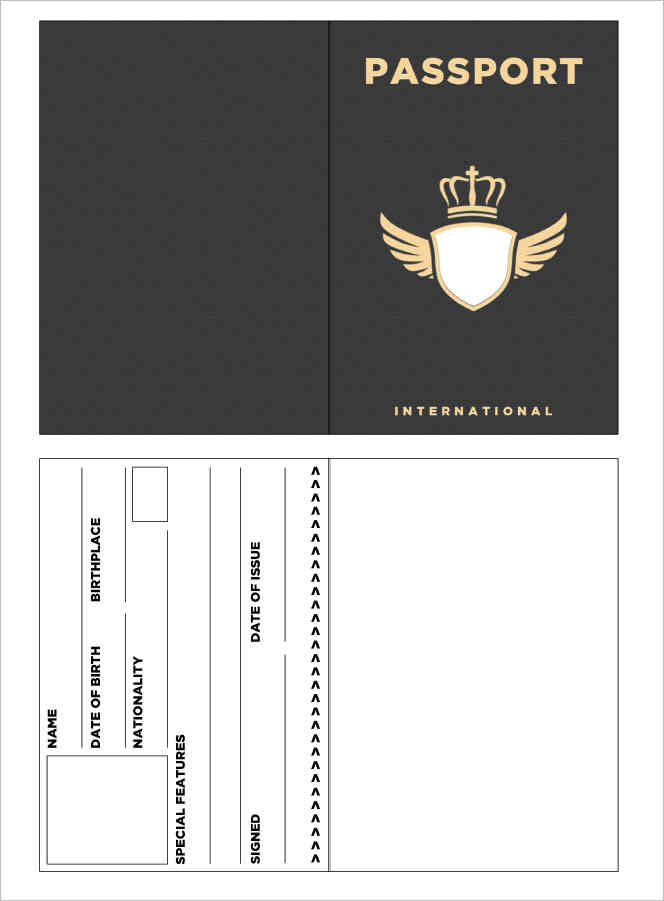 Blank Passport Template