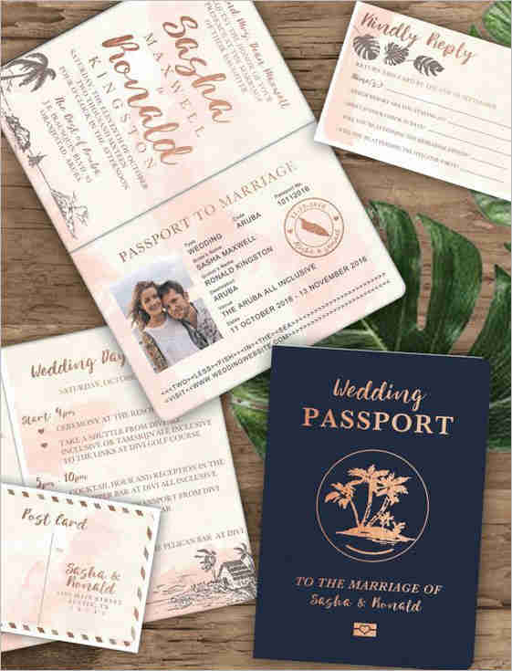 Couple Passport Template