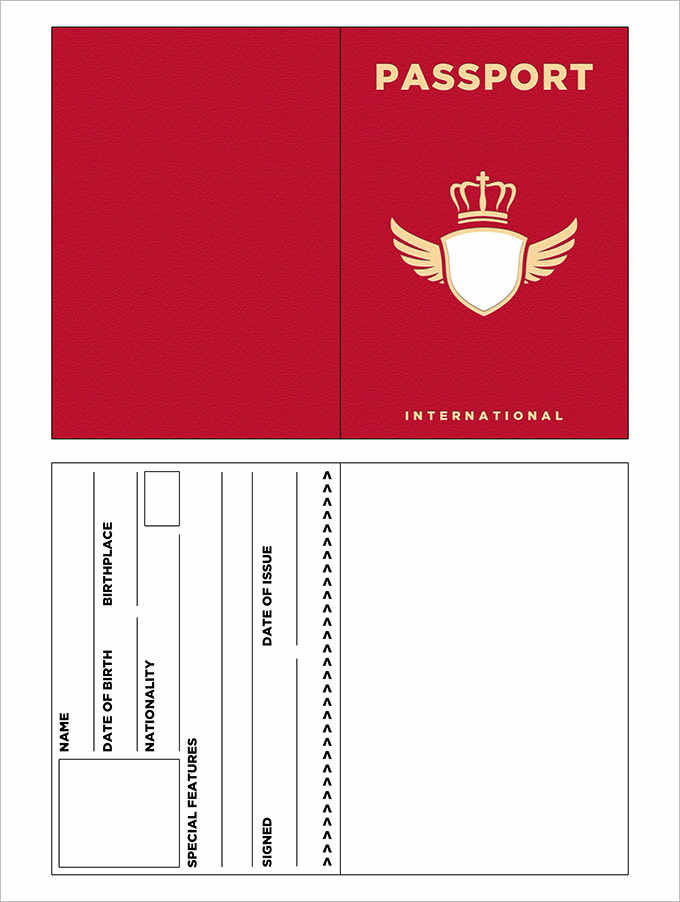 Red Passport Template