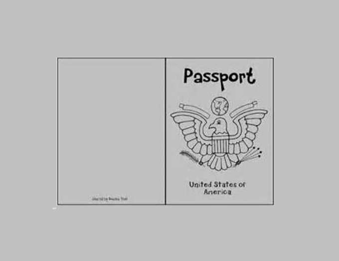 Student Activity Printable Passport Templates
