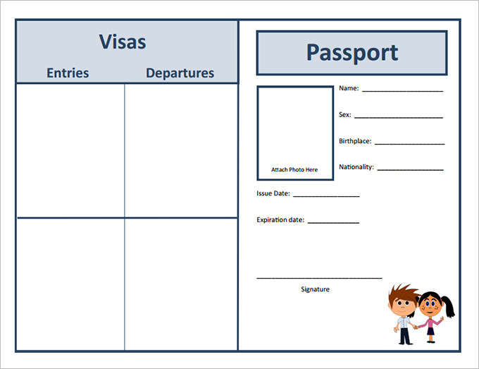 Passport Templates For Students  Word Excel  Smartcolorlib