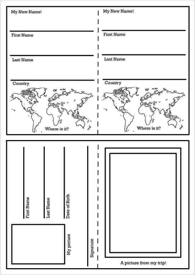Traveling Passport Template