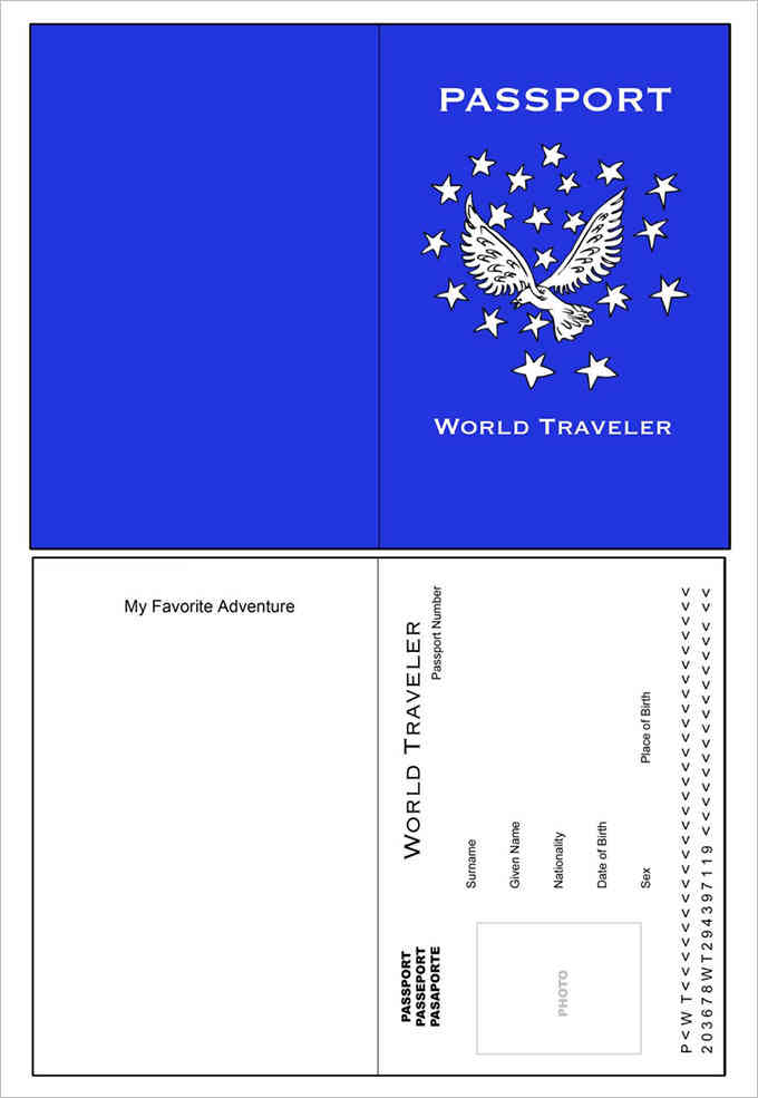 World Traveler Passport Template