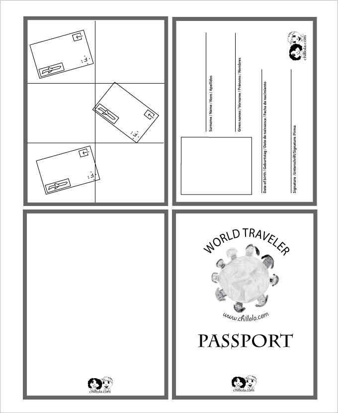 World Traveler Passport Templates