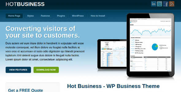 Business Membership WordPress Template
