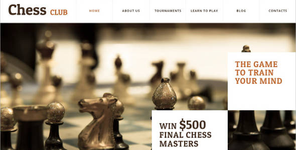 Chess Club Membership WordPress Theme